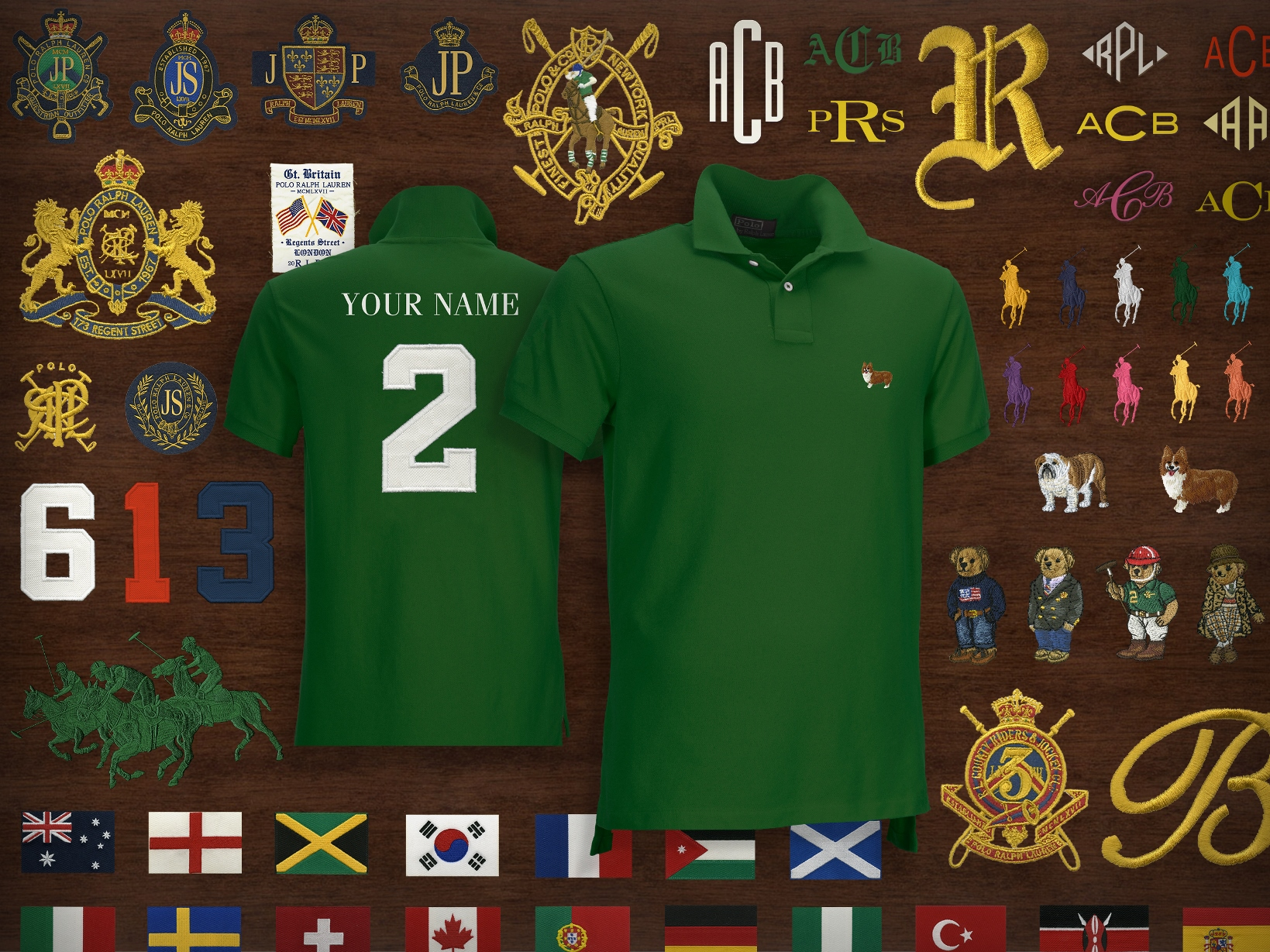Customizable items created for Ralph Lauren's Regent street store.