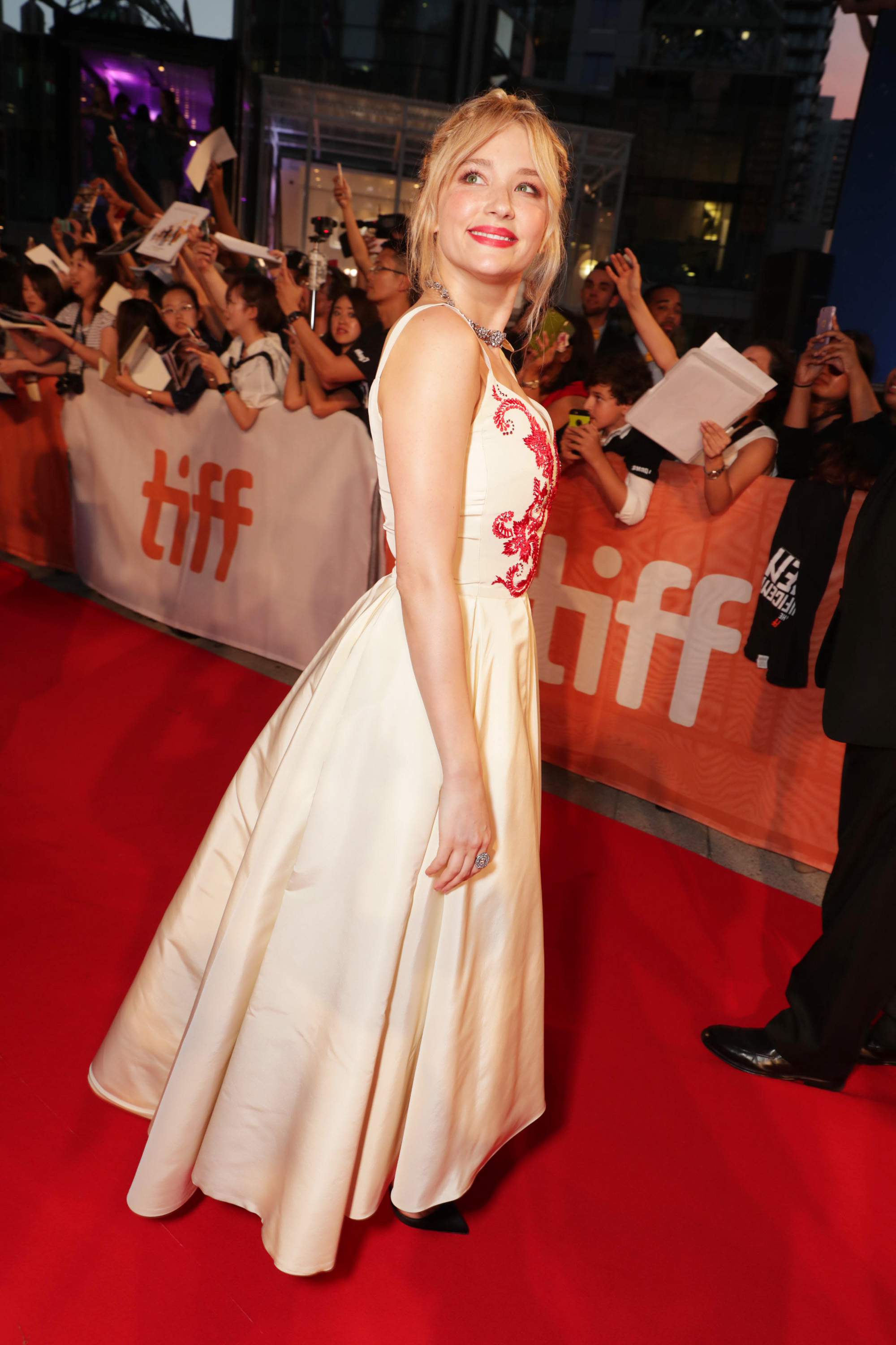 Hayley Bennett in Dior Couture.