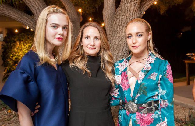 Elle Fanning, Samantha McMillen and Eden XO.