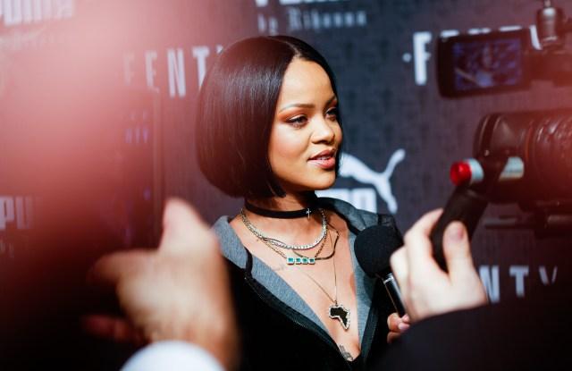 Rihanna at Fenty Puma Fashion Show New York Fashion Week February 2016