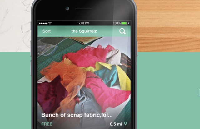 The Squirrelz app takes factory discarded cuts and finds a second use for them.