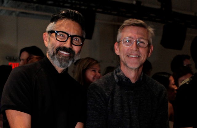 Tony Longorio and Todd Oldham at RISD's first NYFW show.