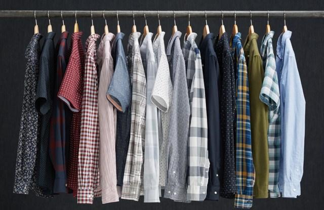 Stitch Fix's men's rack.