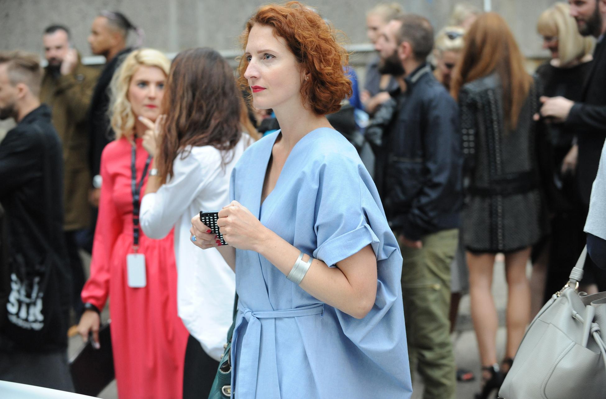Street style at Prague Fashion Week.