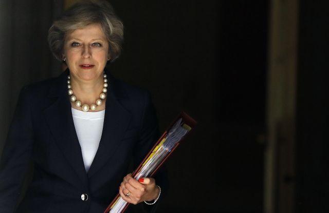 UK Prime Minister Theresa May leaving 10 Downing Street, London