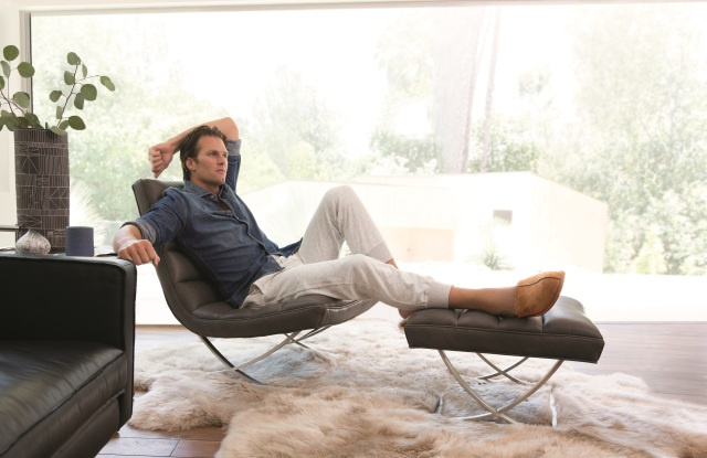 "Tom Brady in Ugg's ""Do Nothing"" campaign."