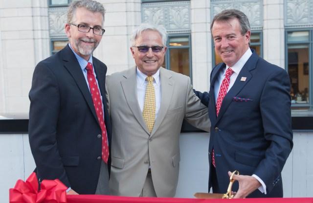 AAFA's executive vice president Stephen Lamar with Rick Helfenbein and Rob DeMartini.