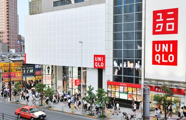 A Uniqlo store in Shinjuku, Tokyo