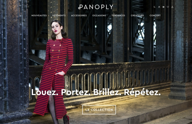 The homepage of Panoply