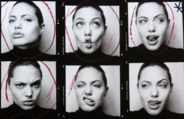 Patrick Demarchelier's Angelina Jolie portrait.