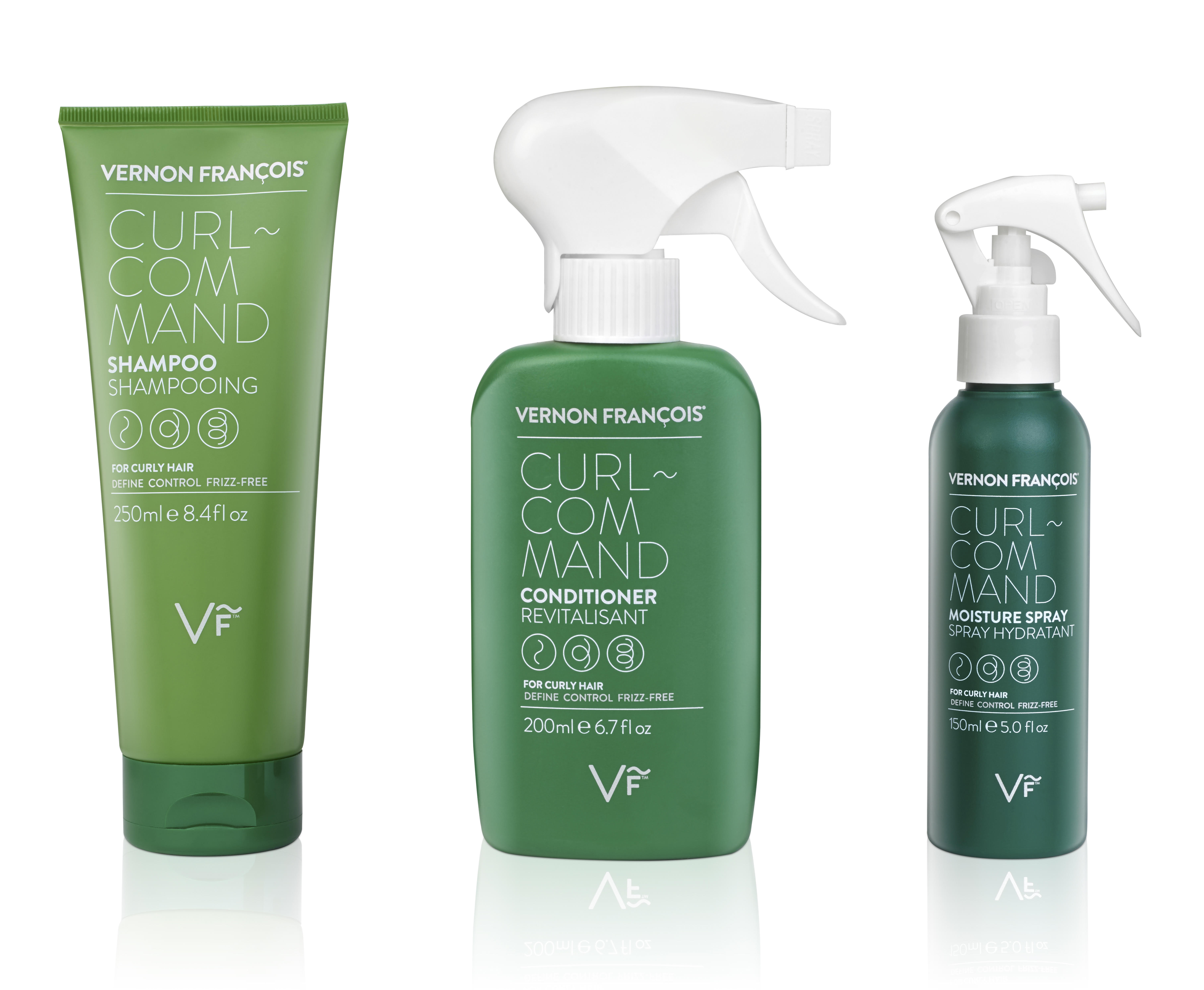 Products from Vernon Francois' new line of products for textured hair.