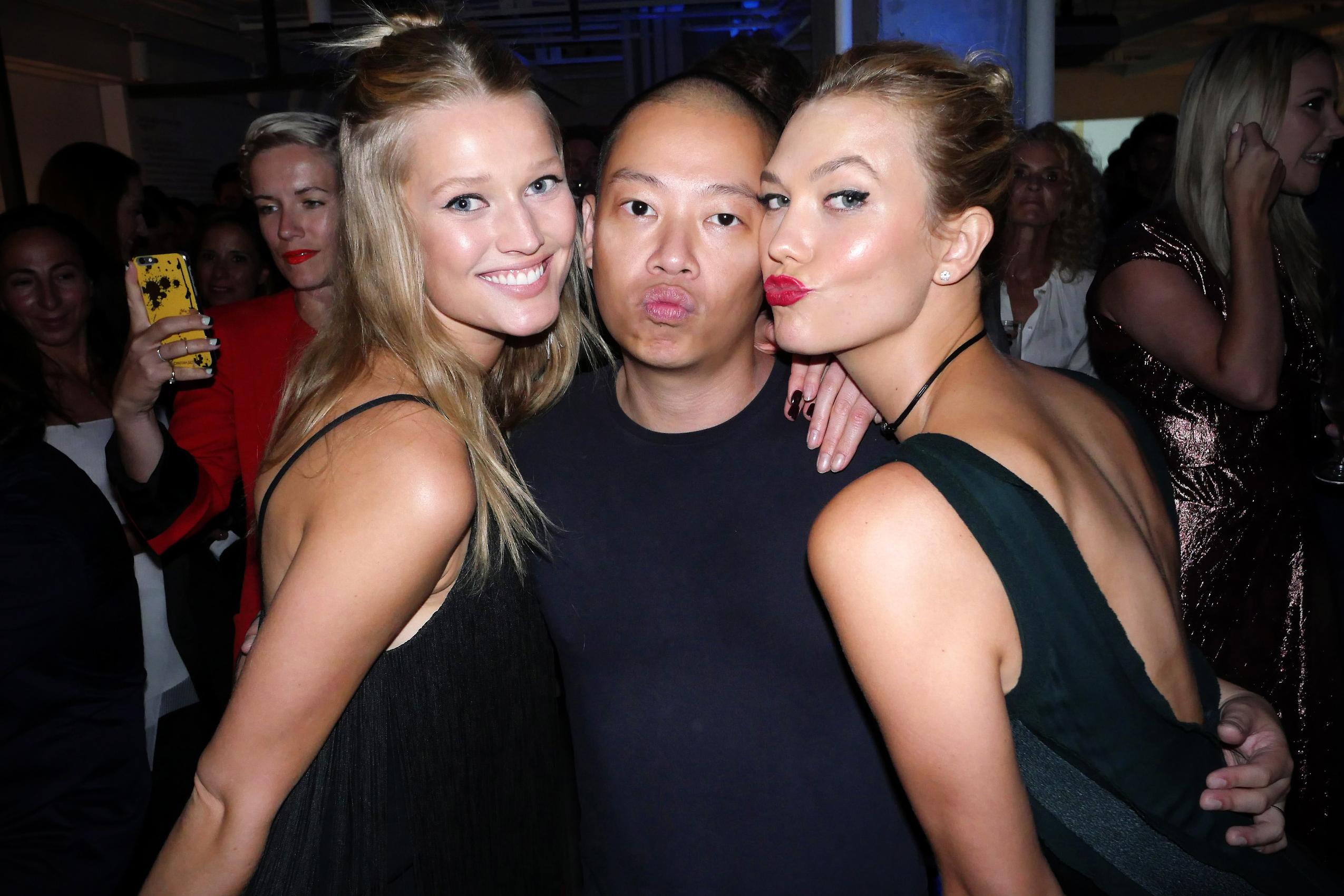 Toni Garrn, Jason Wu and Karlie Kloss.