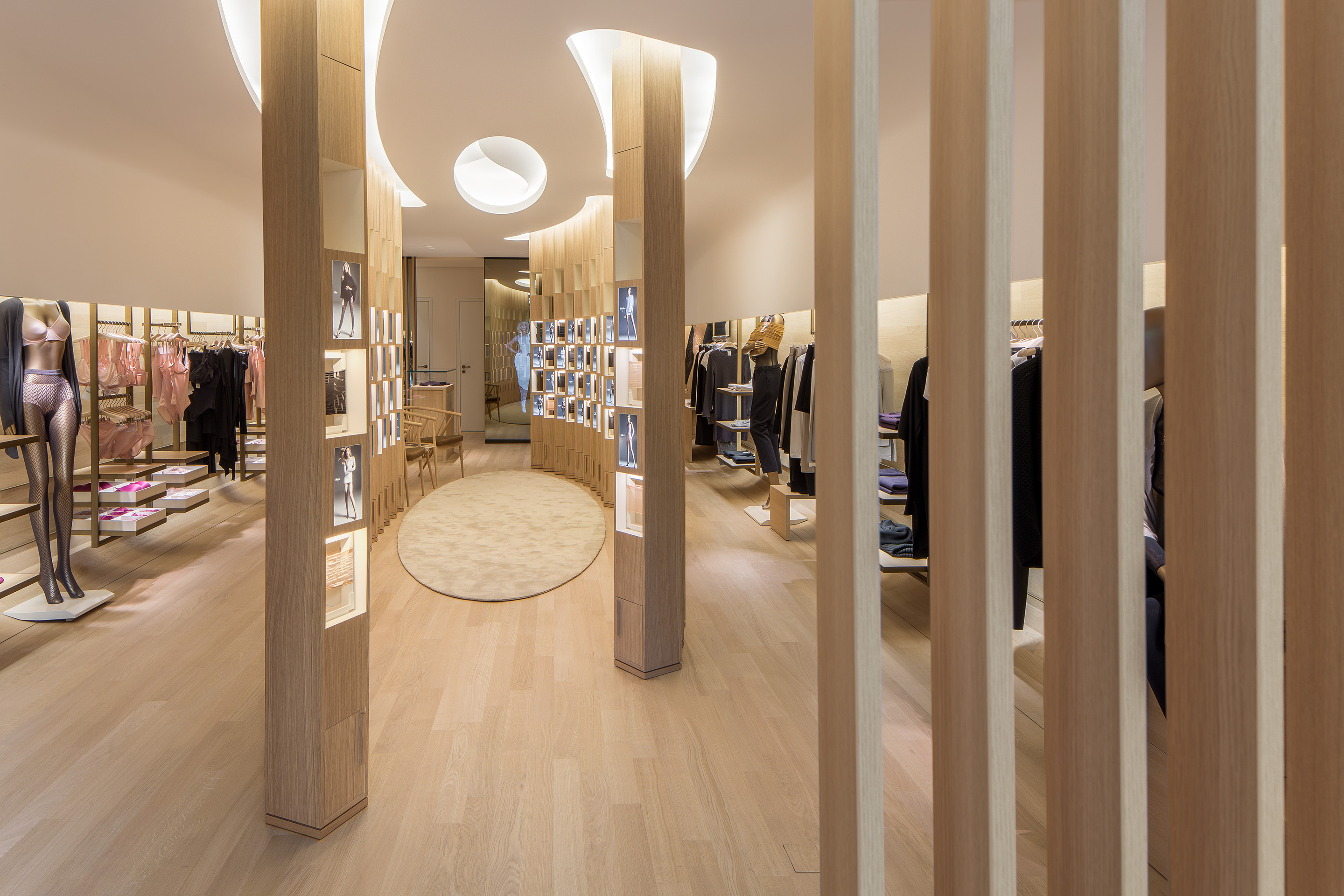 Wolford's new store interior.