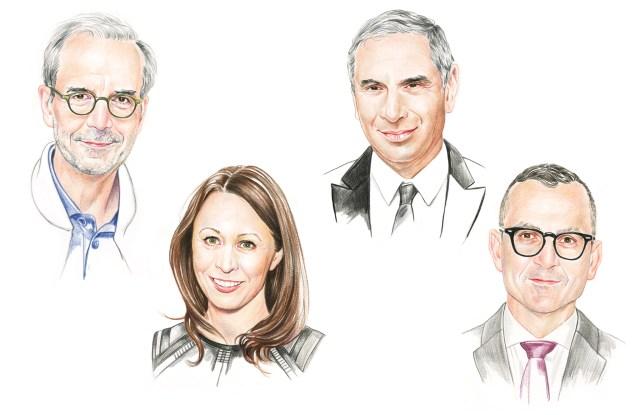 Ralph Toledano, Caroline Rush, Steven Kolb, and Carlo Capasa