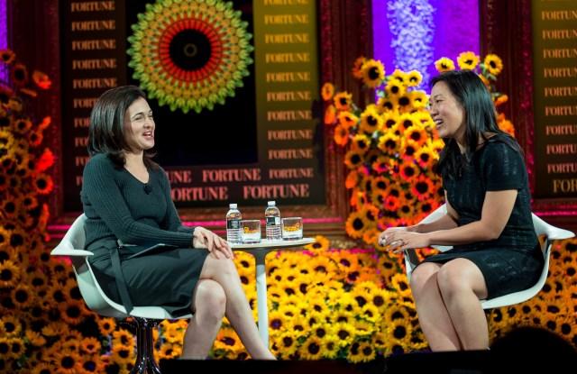 Sheryl Sandberg and Priscilla Chan