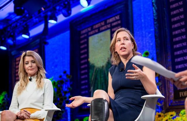 Grace Helbig and YouTube ceo Susan Wojcicki