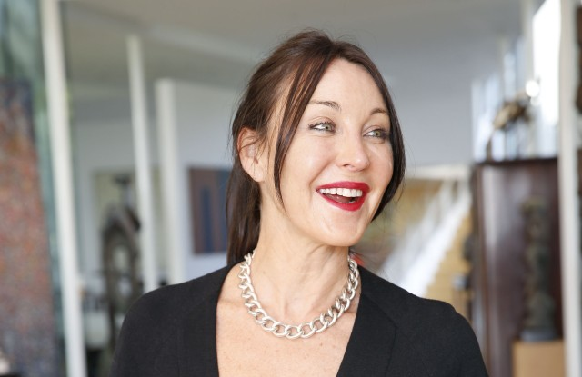 Tamara Mellon celebrates the relaunch of her luxury shoe brand.