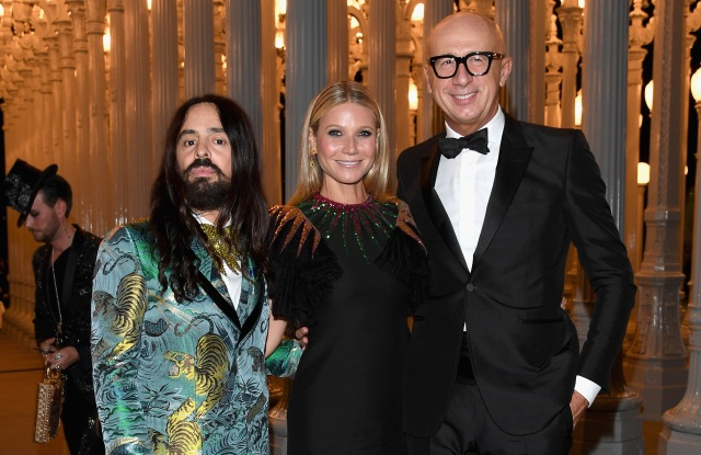 LACMA Art + Film Gala 2016 Alessandro Michele Gwyneth Paltrow Marco Bizzarri
