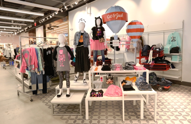 The lower level of Target's TriBeCa store features the new Cat & Jack collection.
