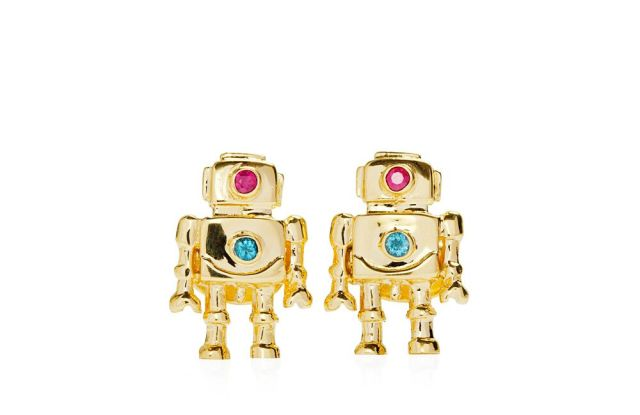 Mia Fonssagrives Solow's new robot jewelry.