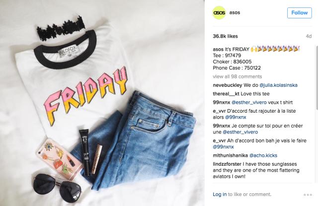 Instagram, social media, brand identity, asos