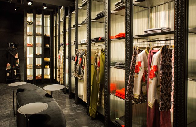 Inside the Ballantyne Store in Milan.