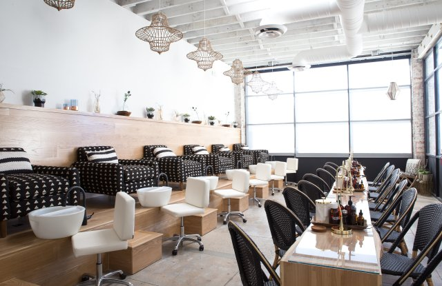 A look inside the Base Coat salon in downtown L.A.'s Arts District.