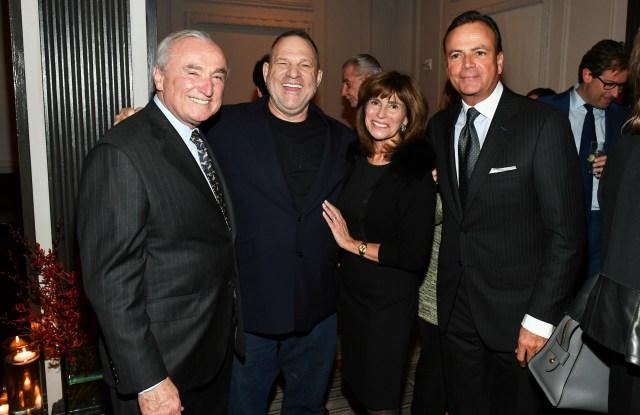 William Bratton, Harvey Weinstein,Rikki Klieman and Rick Caruso.