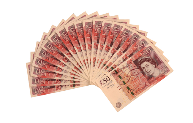 Fifty Pound Notes