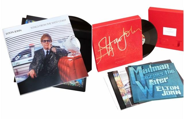 Elton John Burberry vinyl box