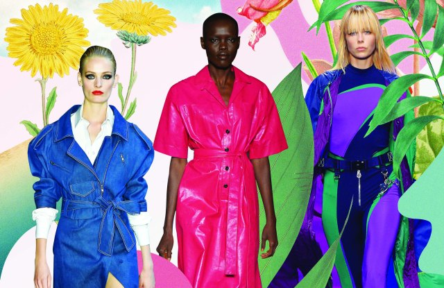 Trans-seasonal styles from Carolina Herrera, Bottega Veneta and Versace.