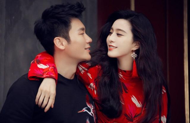 Chinese celebrity couple Li Chen and Fan Bingbing.
