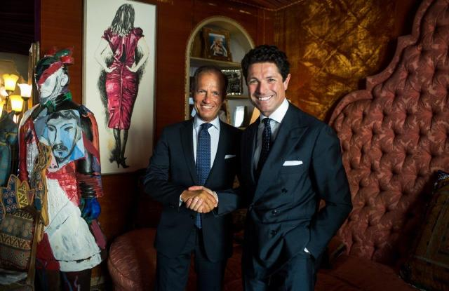 IEG's managing director Corrado Facco and executive vice president Matteo Marzotto.