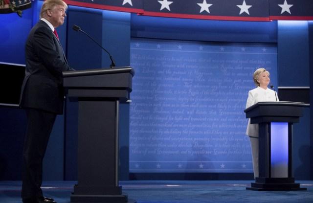 Hillary Clinton Donald Trump Presidential Debate Las Vegas October 2016 Fashion Ralph Lauren Suit Brioni Suit