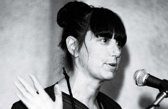 Donna Karan speaking at WWD's ceo summit in 1997.