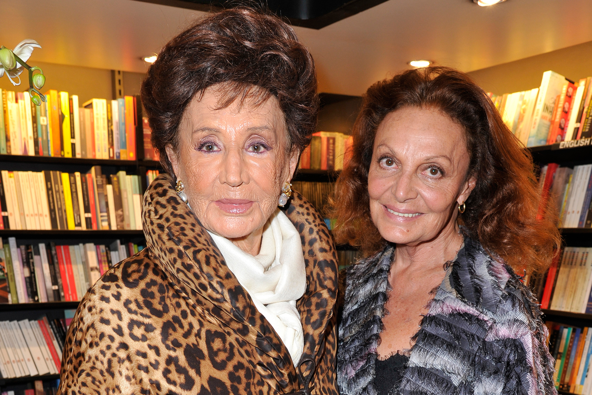 Jacqueline de Ribes and Diane von Furstenberg