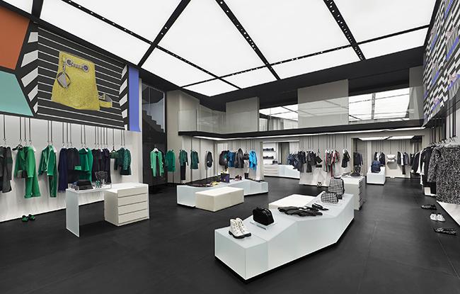 Emporio Armani store in Saint Germain, Paris