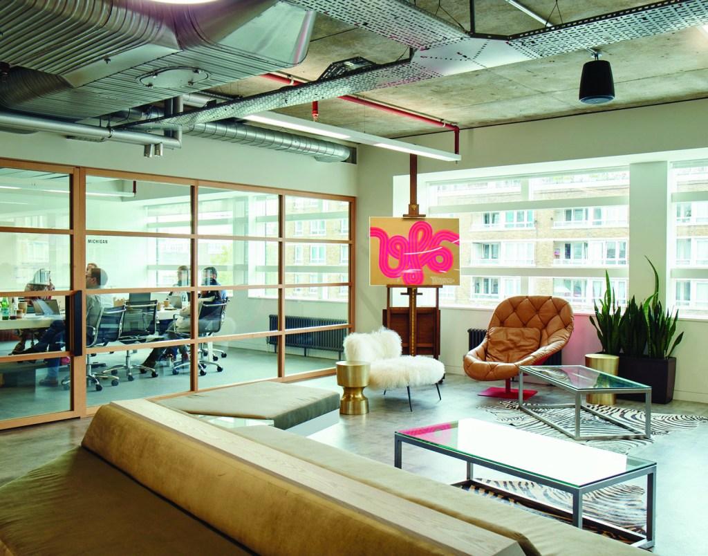 Farfetch's sleek offices in London.