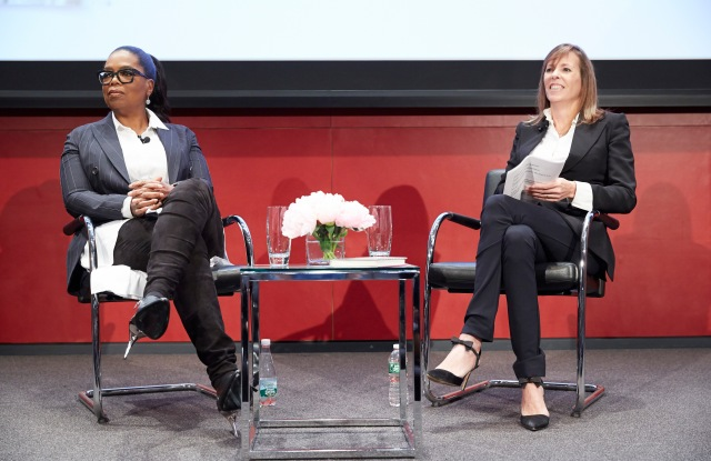 Oprah Winfrey and Lucy Kaylin at Hearst.