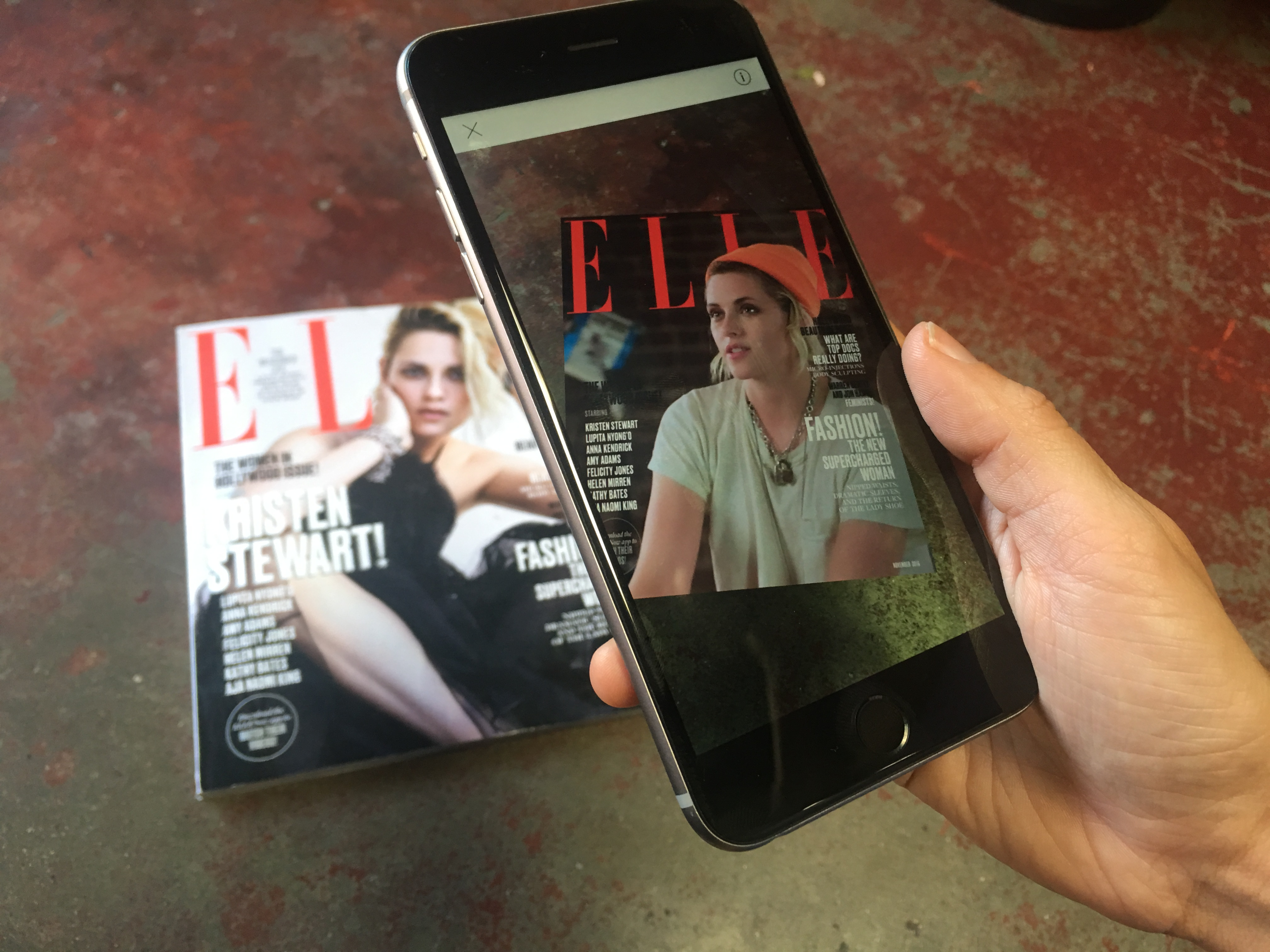 Elle experiments with AR for November Issue