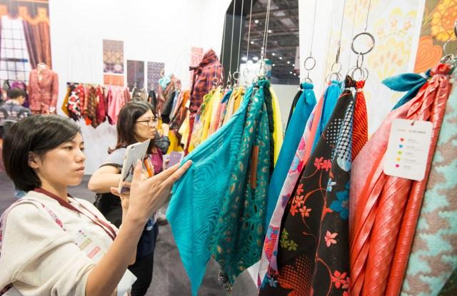 The atmosphere at Intertextile Shanghai Apparel Fabrics.