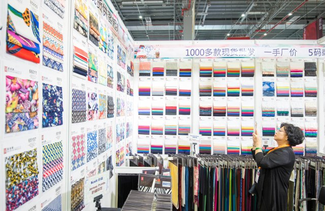 The atmosphere at Intertextile Shanghai Apparel Fabrics.