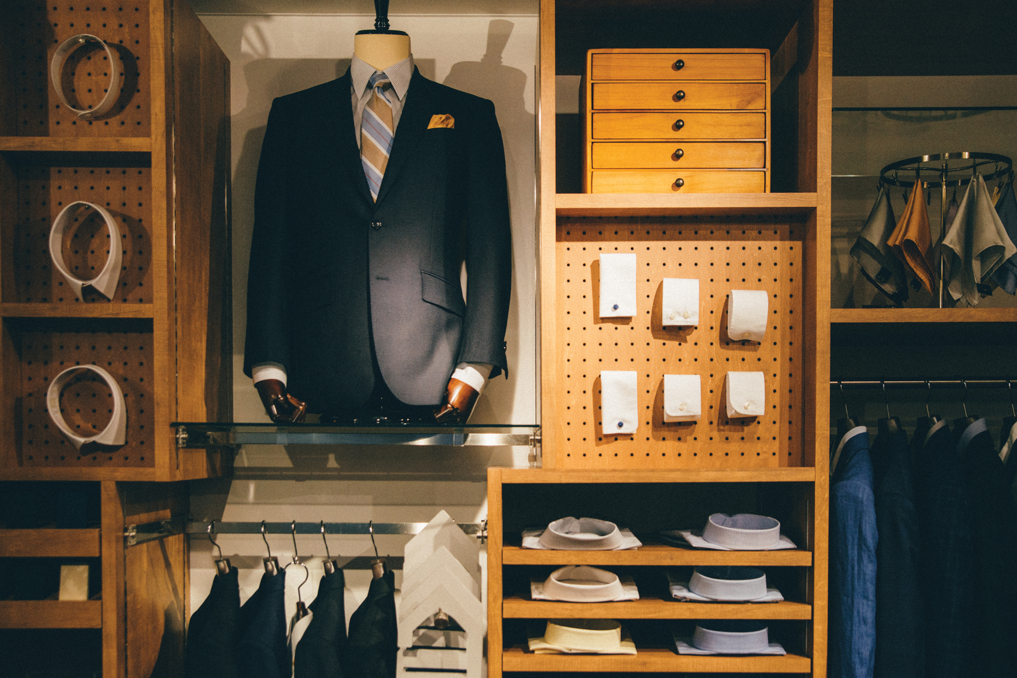 A La Fabric custom suit and shirt store in Tokyo.