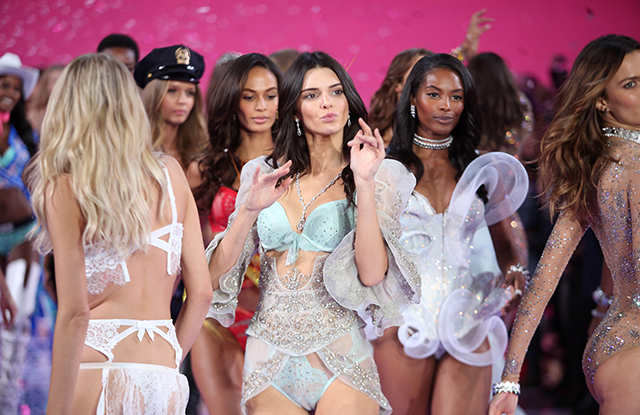 Kendall Jenner on the catwalk at the Victoria's Secret Fashion Show