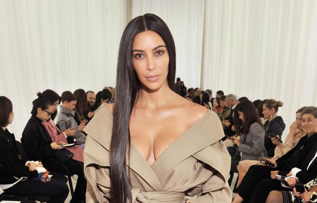 Kim Kardashian at Balenciaga Spring 2017
