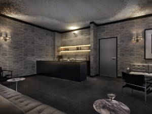 A rendering of the Kors Le Pere Lounge