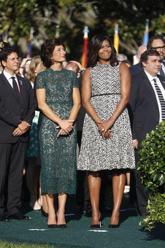 Michelle Obama and Agnese Landini