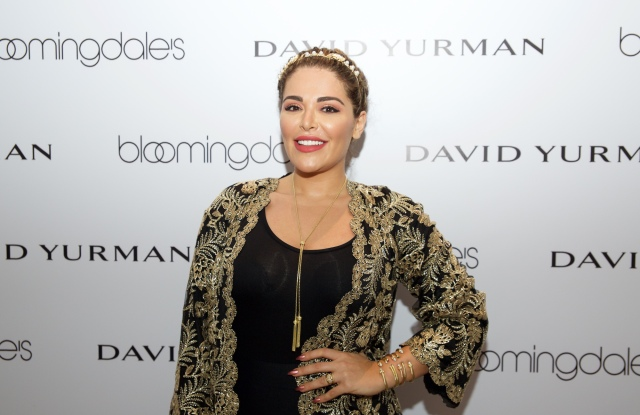 Mona Kattan wearing David Yurman's multiple cable bracelets, Stax's  wide ring and Renaissance's tassel necklace.