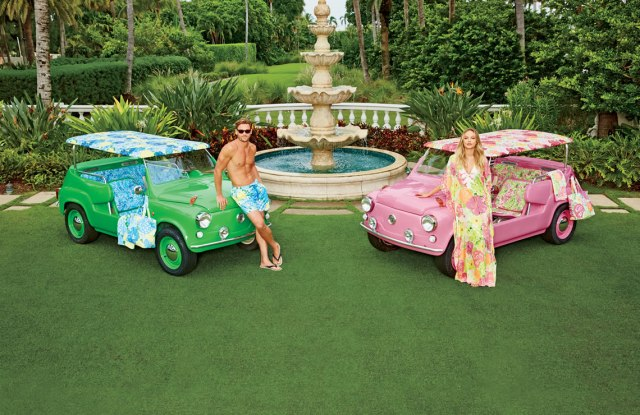 His & Hers Neiman Marcus Island Cars featuring Lilly Pulitzer prints.