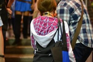 A Spider-Gwen hoodie.